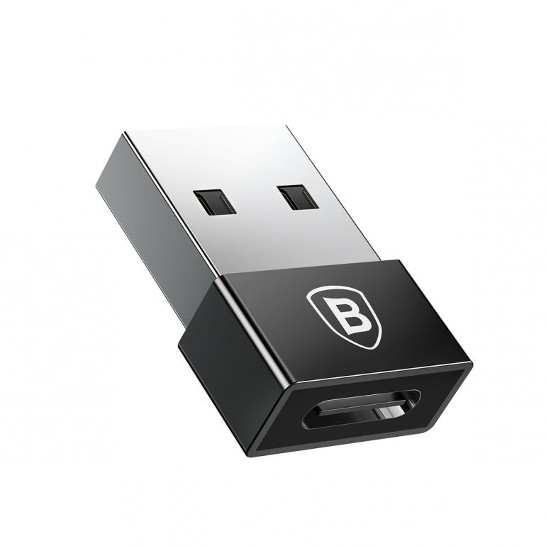Переходник Baseus Exquisite USB to Type-C Черный