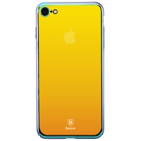 Чехол Baseus для iPhone 8/7 Glass Stream Gold