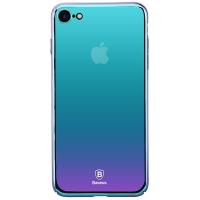 Чехол Baseus для iPhone SE 2020/8/7 Glass Violet Blue