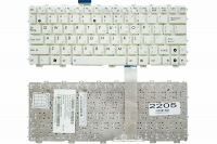 Клавиатура для ноутбука Asus Eee PC 1011 1015 1018 X101 белая без рамки Прямой Enter