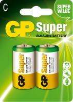 Батарейка GP Super Alkaline LR14 C 1.5V 2шт.