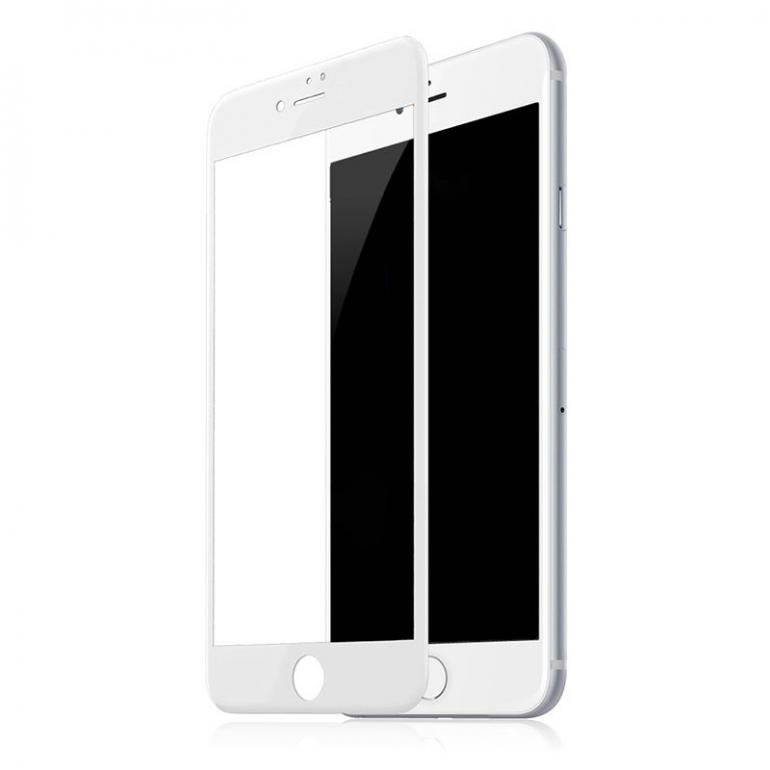 Защитное cтекло Buff для iPhone SE 2020, iPhone 7, iPhone 8, 4D, 0.3mm, 9H, белое