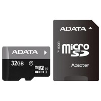 Карта памяти ADATA microSDHC 32GB Premier Class 10 UHS-1 + SD-adapter