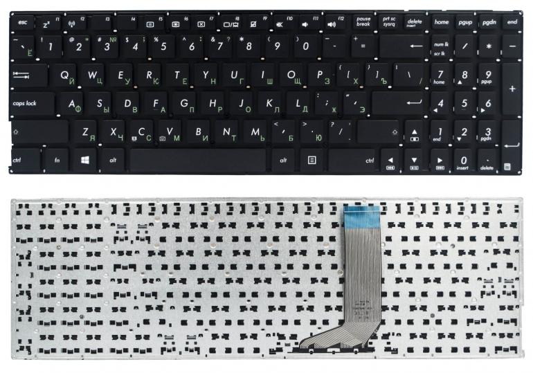 Клавиатура для ноутбука Asus A556UR A556UV F556UB FL5900UQ K556UQ X556UA X556UF X556UV R558UA Z550SA A756UA D756UX черная без рамки
