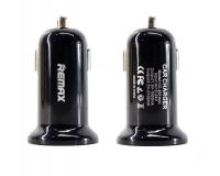 Автомобильное зарядное устройство Remax Mini USBx2 2.4A/1A Black