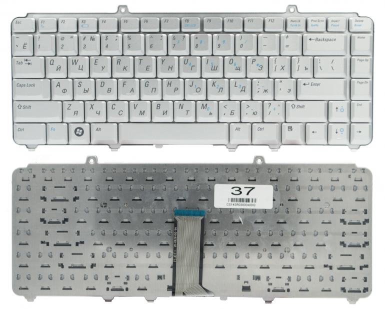 Клавиатура для ноутбука Dell Inspiron 1420 1400 1500 1520 1521 1525 1526 1540 1545 XPS M1330 M1530 серая