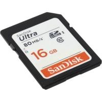 Карта памяти SanDisk Ultra microSDHC 16GB Class 10 UHS-1 + SD-адаптер