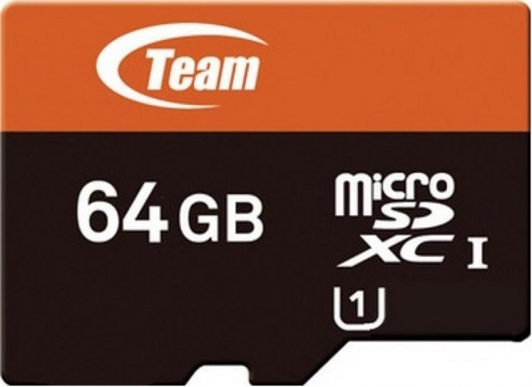 Карта памяти Team microSDXC 64GB Class10 + SD-adapter