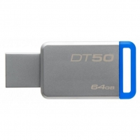USB накопитель Kingston DataTraveler 50 64GB Gray/Blue