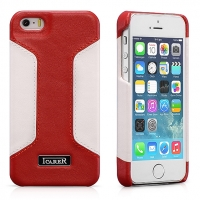 Чехол iCarer для iPhone 5/5S/5SE  Colorblock Red/White