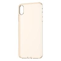 Чехол Baseus для iPhone Xr Simplicity Прозрачный Золотой