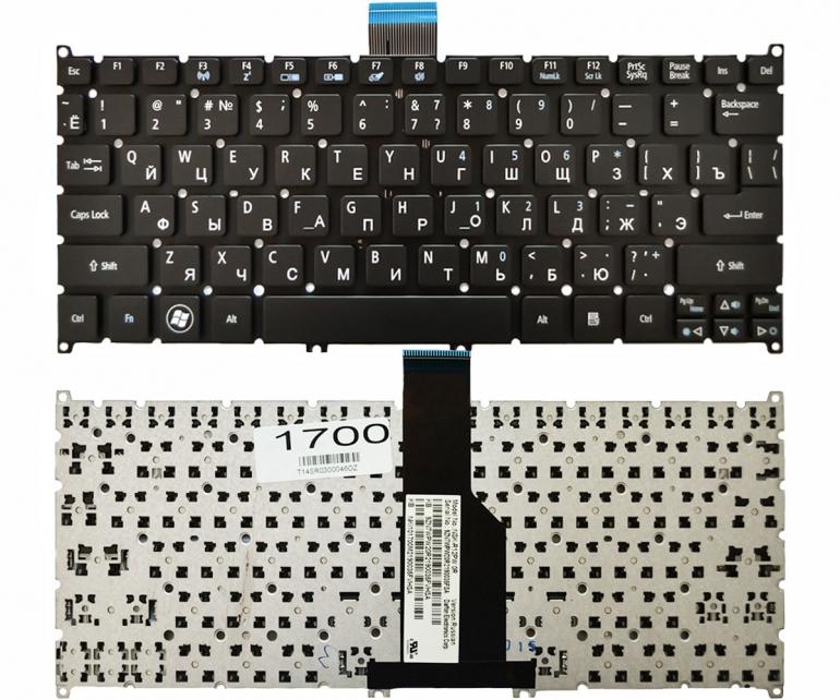Клавиатура для Acer Aspire S3-391 S3-951 S5-391 V5-121 V5-131 One 756 TravelMate B113 B115 черная