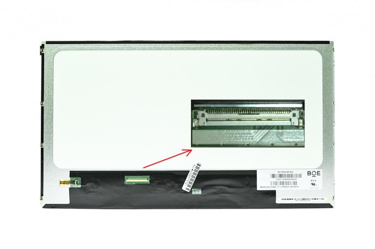 """Дисплей 15.6"""" BOE-Hydis NT156WHM-N50 (LED,1366*768,40pin,Left)"""