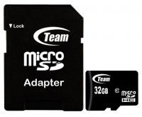 Карта памяти Team microSDHC 32GB Class10 + SD-adapter