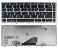 Клавиатура для ноутбука Lenovo Ideapad U310 черная/серая