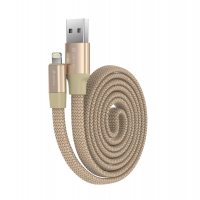 Кабель Devia Ring Y1 для iPhone/iPad/iPod Lightning 2.4A 0.8M Золотой