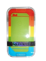 Защитная пленка Remax для iPhone 5/5S/5SE (front + back) Pure Sticker Green