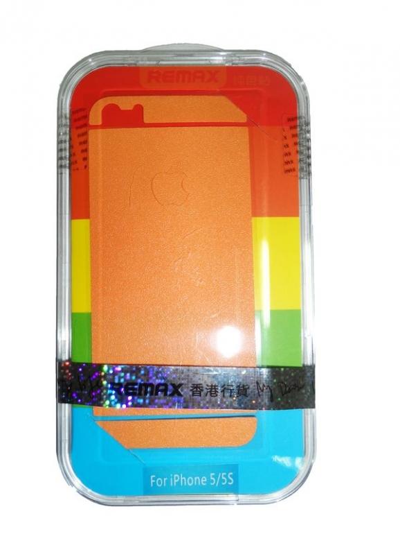 Защитная пленка Remax для iPhone 5/5S/5SE (front + back) Pure Sticker Orange