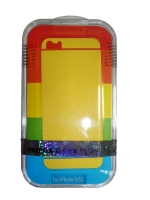 Защитная пленка Remax для iPhone 5/5S/5SE (front + back) Pure Sticker Yellow