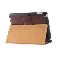 Чехол iCarer для iPad 2/3/4  Genuine Leather Brown