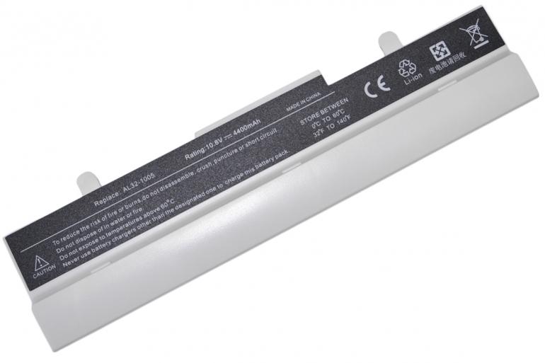 Батарея для ноутбука Asus Eee PC 1001HA 1005 1101 10.8V 4400mAh, белая