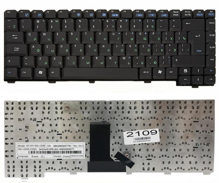 Клавиатура Asus G1 A3 A3000 A6 A6000 A9 A9000 Z81 Z91 черная