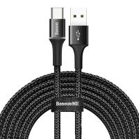 Кабель Baseus Halo USB 2.0 to Type-C 2A 3M Черный