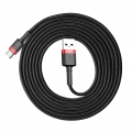 Кабель Baseus Cafule USB 2.0 to Type-C 2A 2M Черный/Красный
