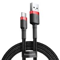 Кабель Baseus Cafule USB 2.0 to Type-C 2A 3M Черный/Красный