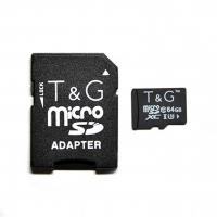 Карта памяти T&G micSDXC 64GB Class 10 UHS-3 + SD адаптер