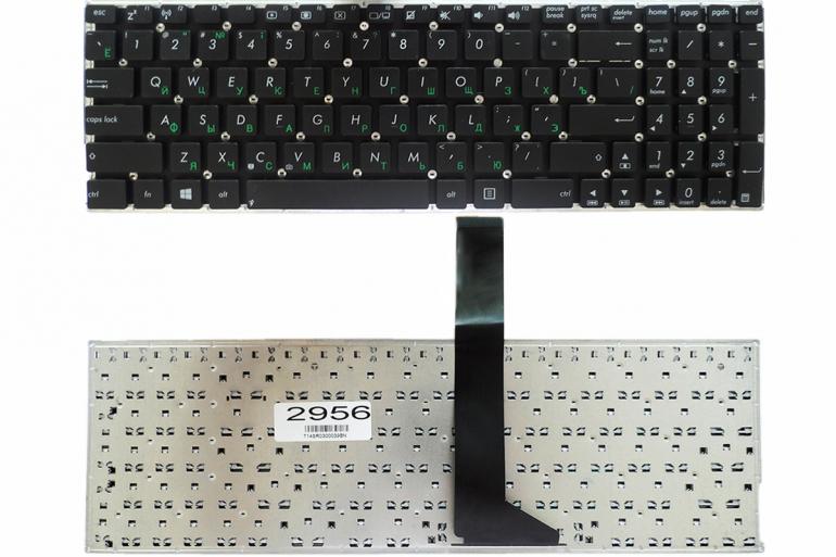 Клавиатура для ноутбука Asus X501 X502  X552 F550 F552 R505 V550 R510 R513 черная без рамки Прямой Enter