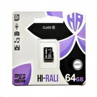 Карта памяти Hi-Rali micro SDXC 64GB Class 10