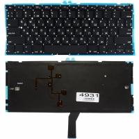 """Клавиатура для ноутбука Apple MacBook Air 13"""" A1369 A1466 черная без рамки Прямой Enter подсветка"""