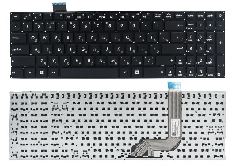 Клавиатура Asus VivoBook X542 X542B X542U X542UN X542UA X542UQ X542UF X542UR A542 K542 PWR черная без рамки Прямой Enter