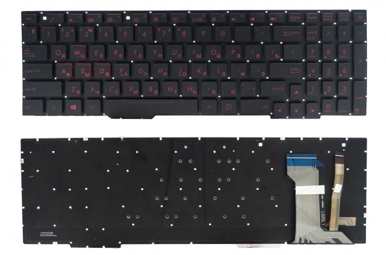 Клавиатура Asus ROG GL553VD GL553VE GL553VW GL753VE GL753VD FX553VD FX53VD FX753VD ZX553VD PWR черная без рамки подсветка Прямой Enter