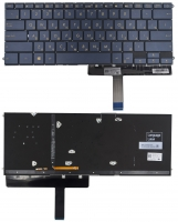Клавиатура Asus ZenBook 3 Deluxe UX490UA PWR черная без рамки Прямой Enter подсветка