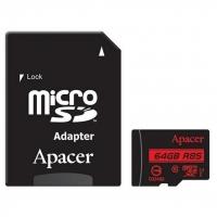 Карта памяти Apacer microSDXC 64GB Class 10 UHS-1 U1 + SD-adapter