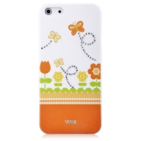 Чехол Vouni для iPhone 5/5S/5SE Swarovski Orange
